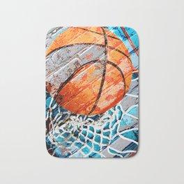 Modern basketball art 3 Bath Mat
