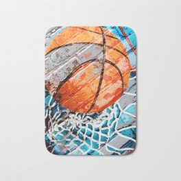 Modern basketball art 3 Bath Mat