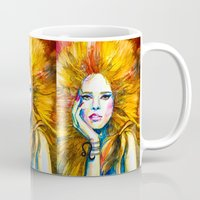 zodiac Mugs featuring Leo Zodiac by Slaveika Aladjova