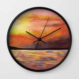 Sunset on Lake Balaton Wall Clock