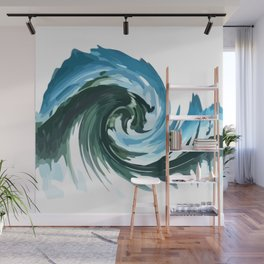 Abstract Digital Design - Beach Vibe Motion Twirl Wall Mural