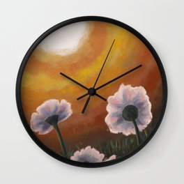 Sunset Fields Wall Clock