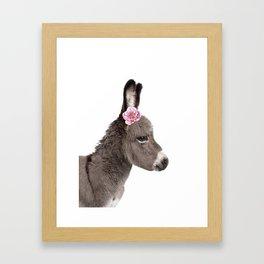 flower donkey Framed Art Print