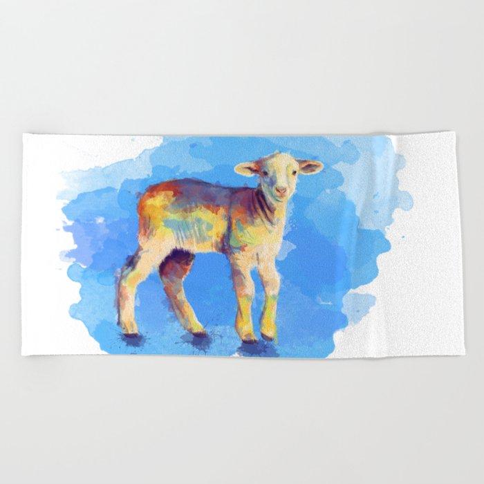 Litte Lamb Beach Towel