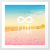 forever young Art Prints featuring Forever Young by M Studio
