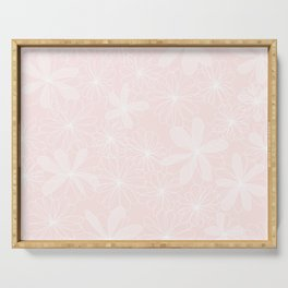 Daisies in Love - Floral Daisy Summer Pattern Serving Tray