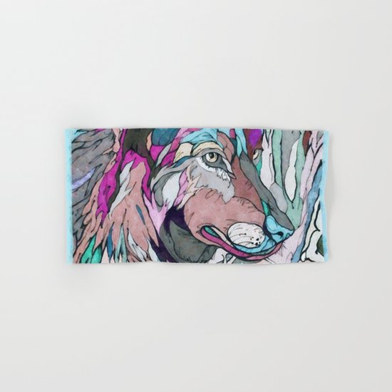Colorful Wolf Hand & Bath Towel