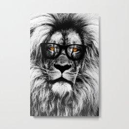 Eyes of the lion Metal Print