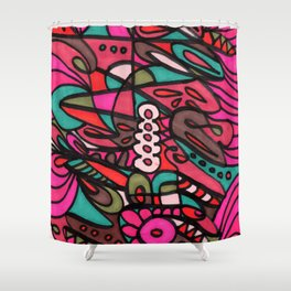 Make Art for Yourself (pink) Shower Curtain