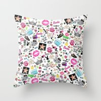 hollywood Throw Pillows featuring Hollywood by LuxuryLivingNYC