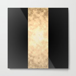 Gold and black stripes Metal Print