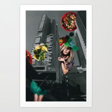 Food fantasy collage series #1 Art Print