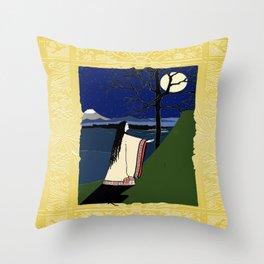 Kaguya Hime Daughter Of The Moon Throw Pillow