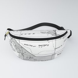 Vintage Map of Turks and Caicos & Bahamas Fanny Pack