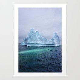 Arctic Glacier Art Print