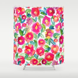 Hot Floral Mess Shower Curtain