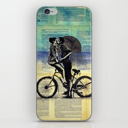 True blue love iPhone Skin