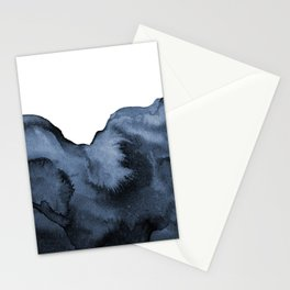 Watercolor Splash in Blue Stationery Cards