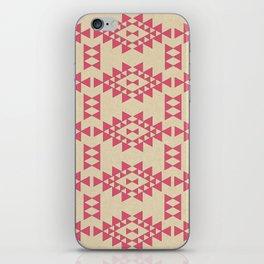 Coral Geo iPhone Skin