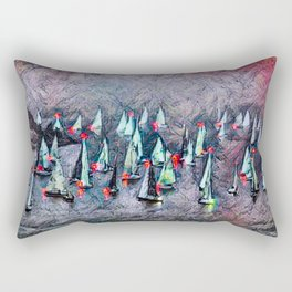 SAILBOAT BAY-Afterglow Rectangular Pillow
