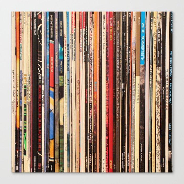 Alt Country Rock Records Leinwanddruck