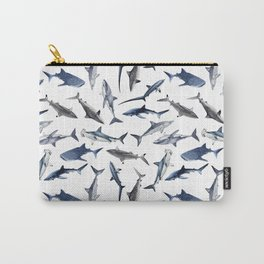 SHARKS PATTERN (WHITE) Carry-All Pouch