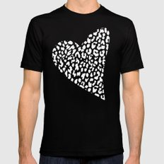 Wild Heart Mens Fitted Tee MEDIUM Black