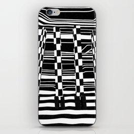 Black and White Giraffe Feet iPhone Skin