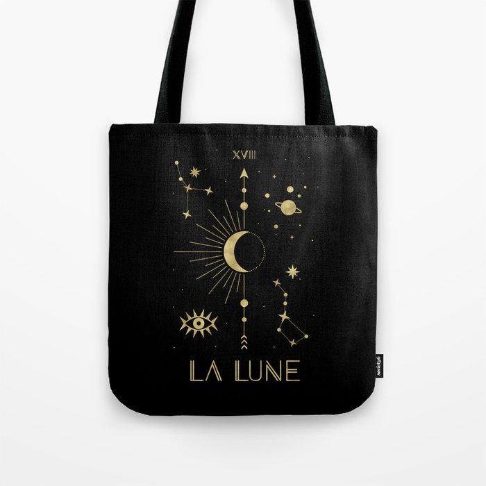 The Moon or La Lune Gold Edition Tote Bag