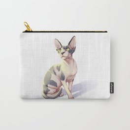 Sphynx Cat Painting -- Kirby Carry-All Pouch