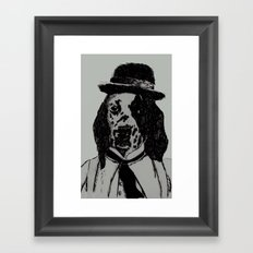 Dog Chaplin Framed Art Print