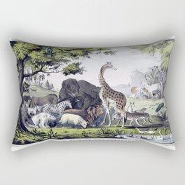 Adam naming the creatures Rectangular Pillow