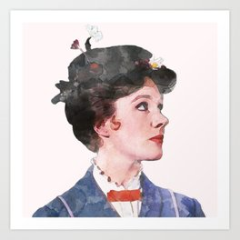 Mary Poppins - Watercolor Art Print