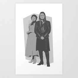 Monochrome Rumbelle Art Print