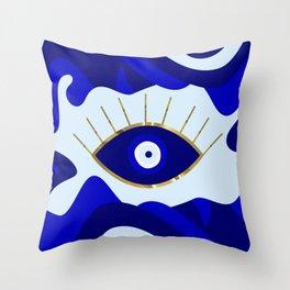 Lava All Seeing Evil Eye Throw Pillow
