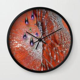 Broken Mirror Wall Clock