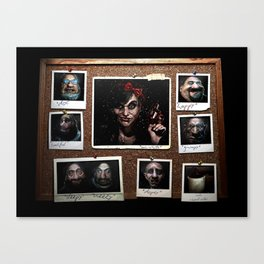Snow White and 'The Gang' Canvas Print