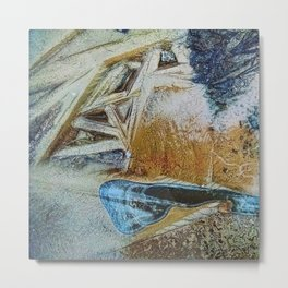 Puddle and Ice Metal Print