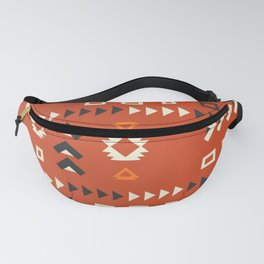 American native shapes in red Fanny Pack