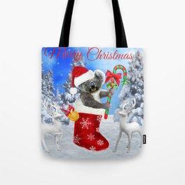 Baby Koala Christmas Cheer Tote Bag
