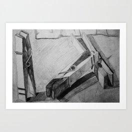 Clothespins Art Print