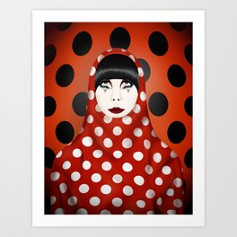 The Many Faces of Peggy Moffitt Art Print
