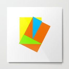 Four Season Colour Geometric Abstract Art Metal Print