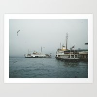 ships Art Prints featuring Ships by tuncay cavdar