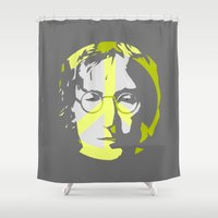gladiator Shower Curtains featuring LNN by karakalemustadi