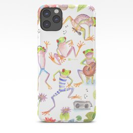 Party frogs iPhone Case