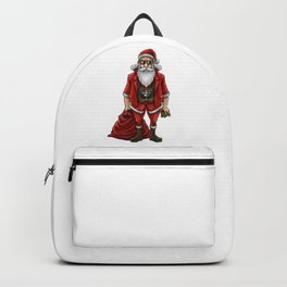 Hipster Santa Claus   Christmas Style Cool Fashion Backpack