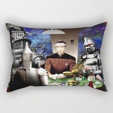 Droids Playing Poker Rectangular Pillow