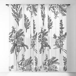 fleur noir Sheer Curtain