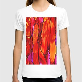 Reverie in Red Yellow and Violet T-shirt